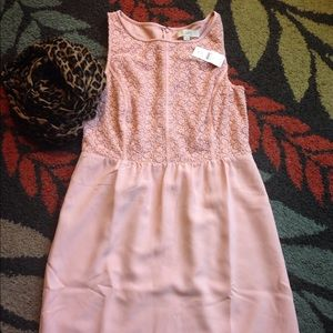 New with tags loft sleeveless dress blush pink